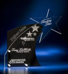 Clear Star with Black Accent Acrylic Award Star Acrylic Award Trophy